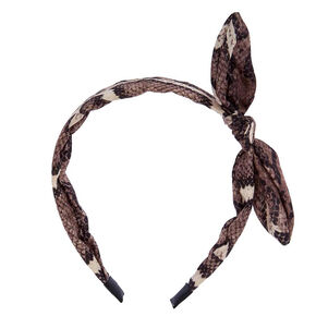 Snake Print Knotted Headband,