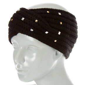 Black Cold Weather Bling Headwrap,