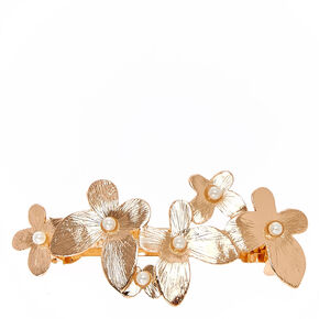 Rose Gold & Pearl Butterfly Barrette,