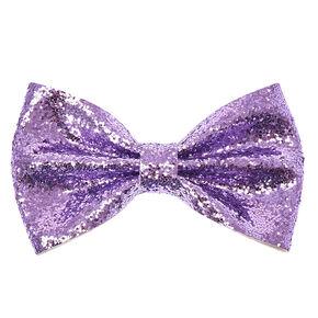 Metallic Glitter Bow Hair Clip,