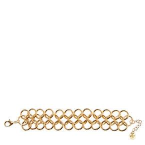 Large Circle Link Gold Bracelet,