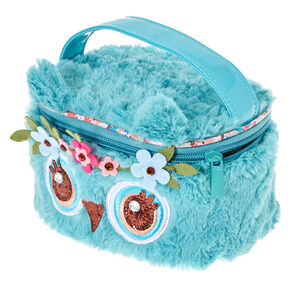 Kids Plush Festival Owl Train Makeup Case,