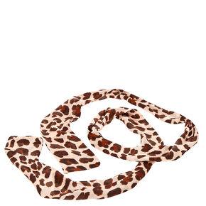 Leopard Print Skinny Scarf,