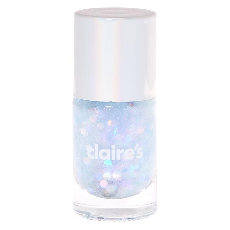 Silver Pastel Glitter Nail Polish