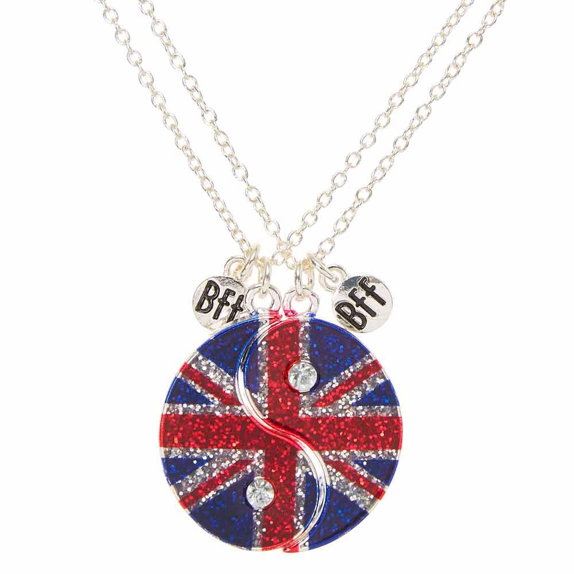 colliers d 39 amiti motif ying yang et drapeau britannique claire 39 s fr. Black Bedroom Furniture Sets. Home Design Ideas