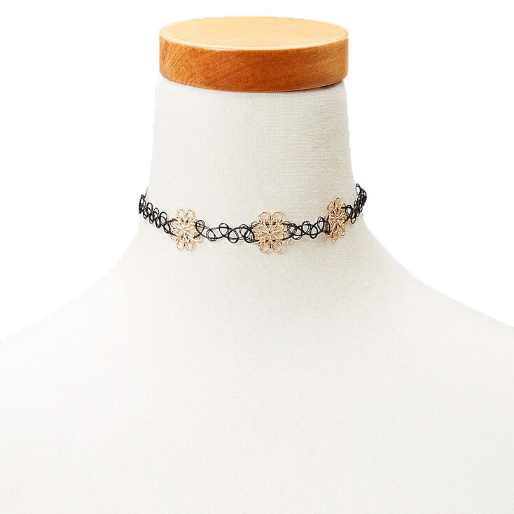 Tattoo Choker Gold Flowers at Icing in Victor, NY | Tuggl
