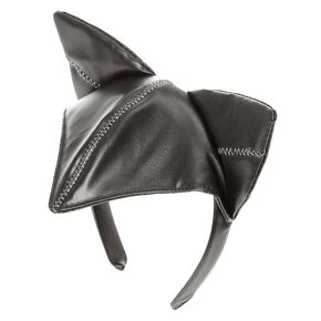 Faux Leather Cat Headband,