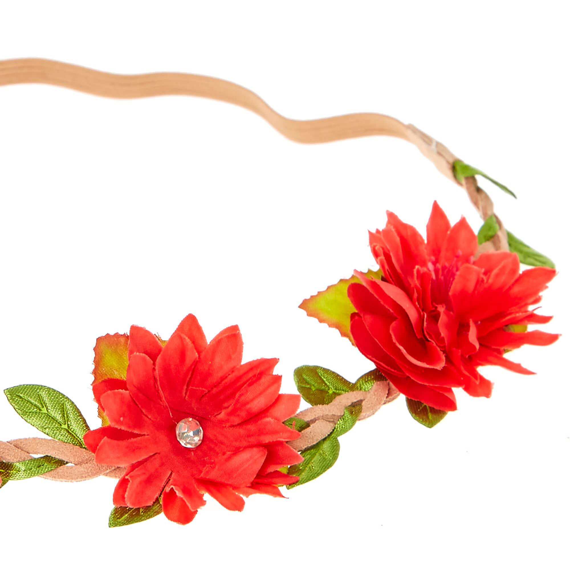 Red Flower Crown Headwrap Claires Us