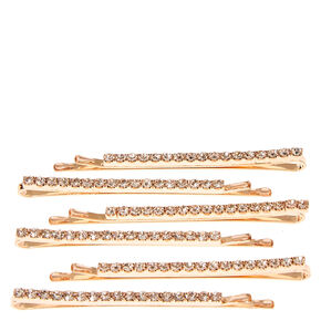 Rose Gold Linear Hair Pins,
