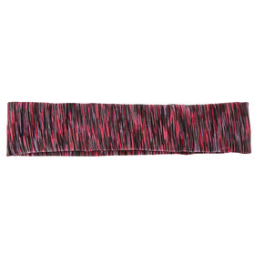 No Slip Pink And Black Athletic Headwrap,