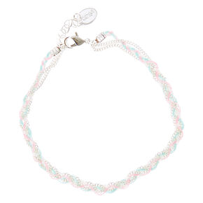 Braided Pastel Anklet,