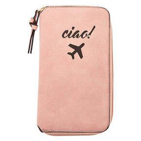 Blush Pink Ciao! Travel Wallet,