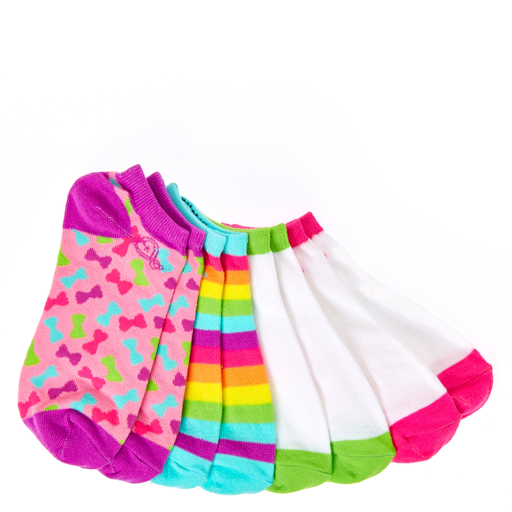 JoJo Siwa 4 Pack Ankle Socks | Claire's US
