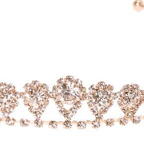 Rose Gold Mini Inverted Tear Drop Tiara,