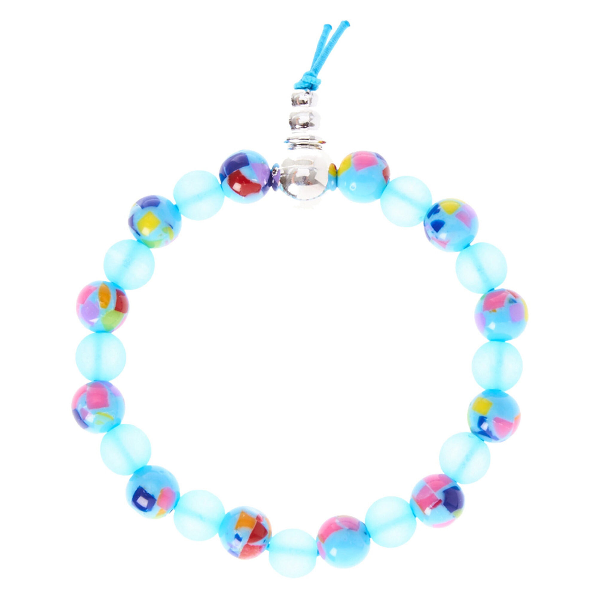 Light Blue And Beige Living Room: Light Blue And Multi-Colored Glass Bead Bracelet