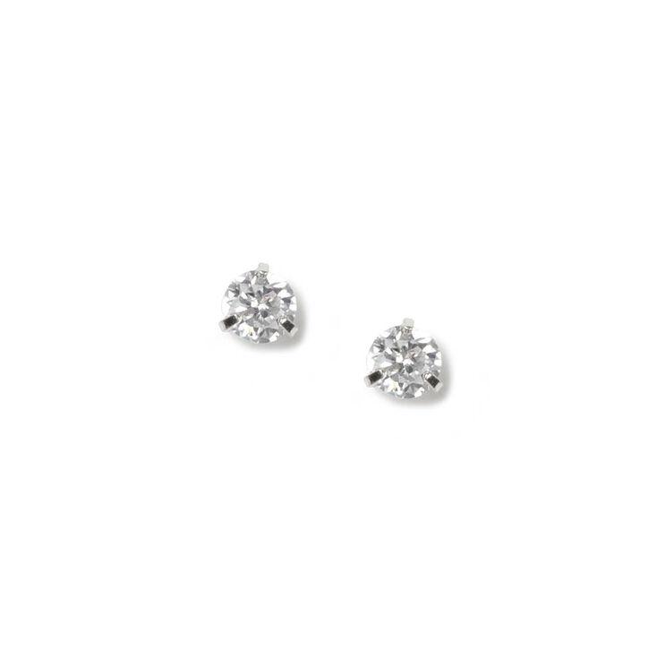 c6daad668e44 4MM Round Cubic Zirconia Martini Set Stud Earrings