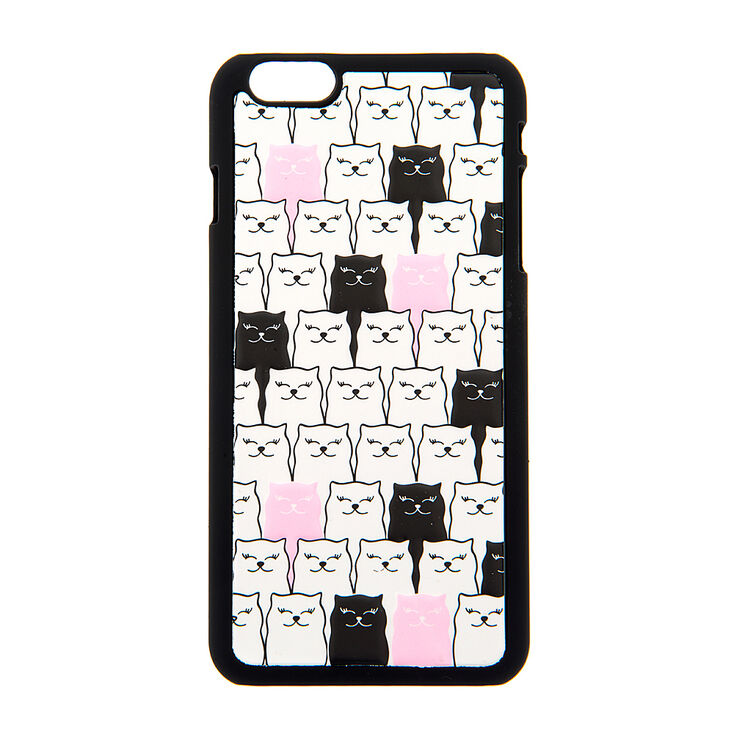 Black, White & Pink Cats 3D Phone Case,