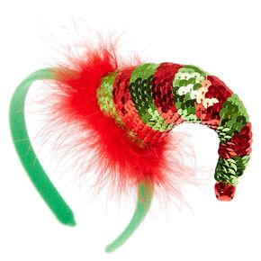 Sequin Elf Hat Headband,