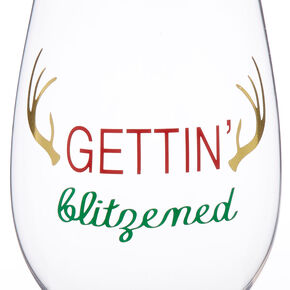 Gettin' Blitzen Wine Glass,