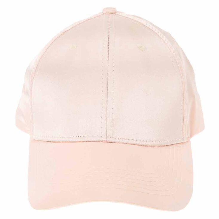 Blush Satin Baseball Cap,