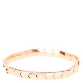 Rose Gold Stretch Arrow Bracelet,
