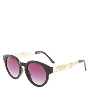 Black and Gold Tinted Sunglasses,
