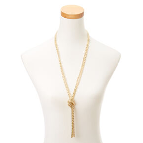 Gold  Knot Necklace,
