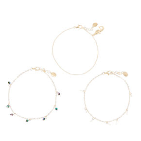 Three Piece Mermaid Anklets,