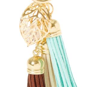 Neutral Tassel Keychain,