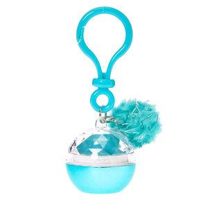 Turquoise Lip Balm Pot Keychain,