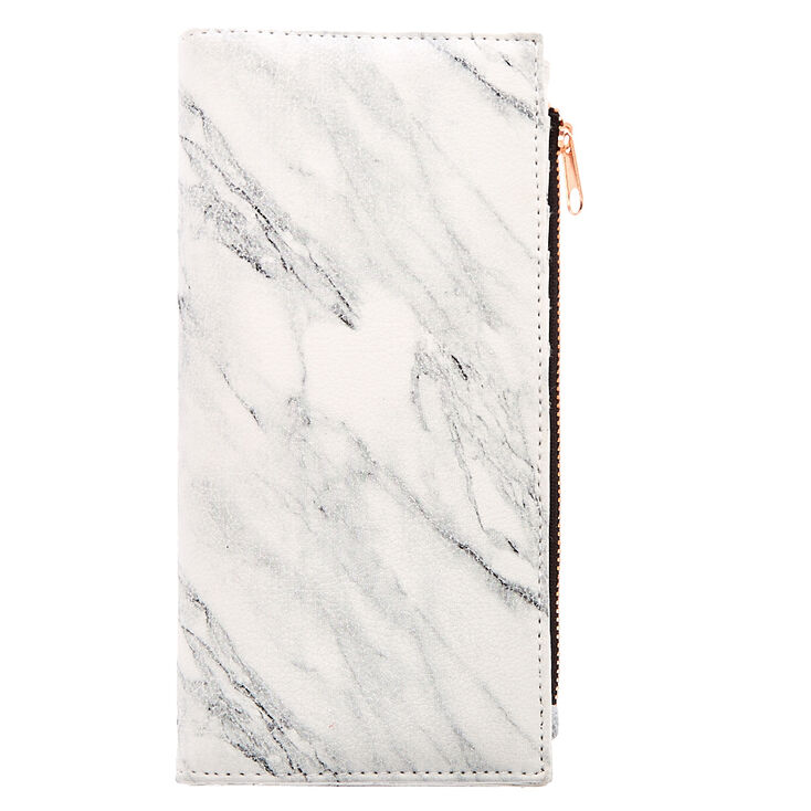 Marble & Rose Gold Slim Clutch Wallet at Icing in Victor, NY | Tuggl