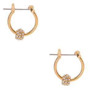 Gold-Tone Fireball Hoop Earrings,