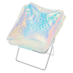 Pink Snake Skin Print Phone Holder Chair,