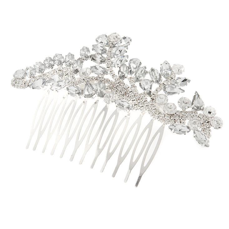 Crystal Marquis Leaves and Rhinestone Vine Hair Comb,