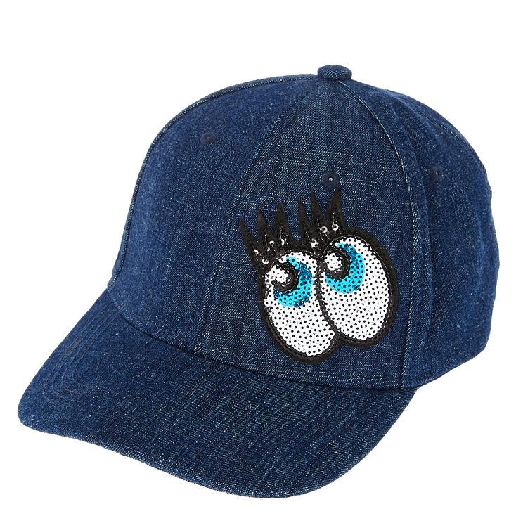 denim baseball cap sequin eyes hats custom caps amazon