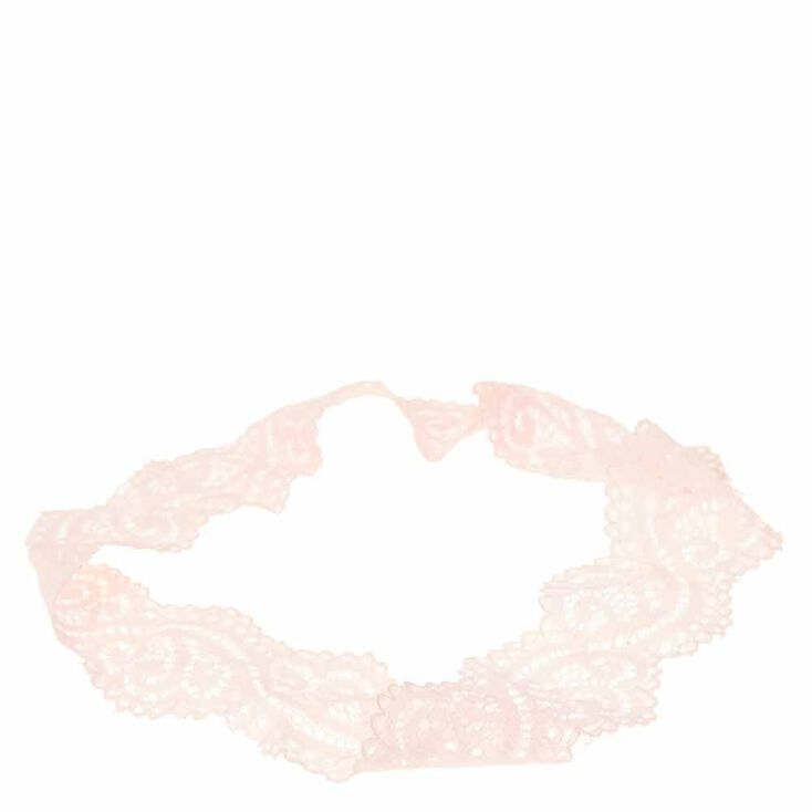 Light Pink Lace Headwrap,