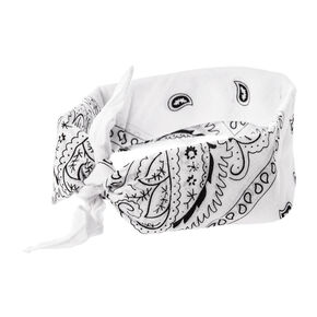 White Bandana 3 Way Headwrap,