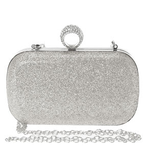 Silver Ring Clutch Box,