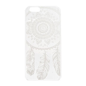 Clear with White Dream Catcher Print Phone Case,