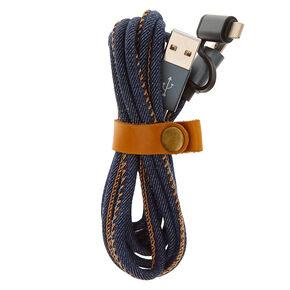 Denim USB Lightening Charging Cable,