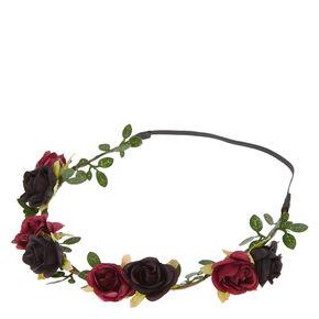 Navy And Wine Rose Hair Garland,