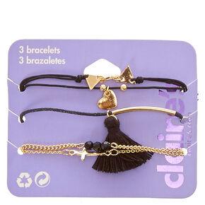 Triangle Tassel Bracelet Set,