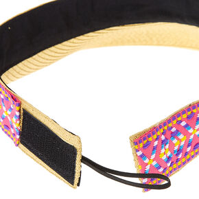 Pink & Yellow Aztec Pattern Visor,