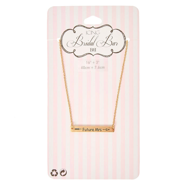 Gold-Tone FUTURE MRS Bar Necklace,