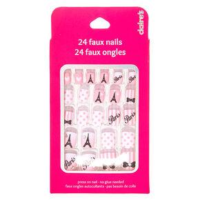 Kids Pink Paris Press-on Nail False Nails,