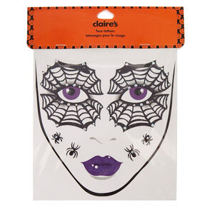 Spider Web Face Tattoos,