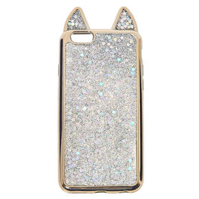 Metallic Silver Cat Phone Case,