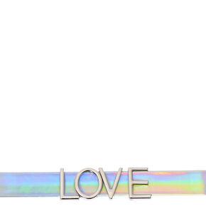 Iridescent LOVE Choker Necklace,