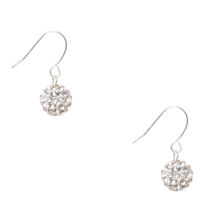 Silver-tone Fireball Drop Earrings,