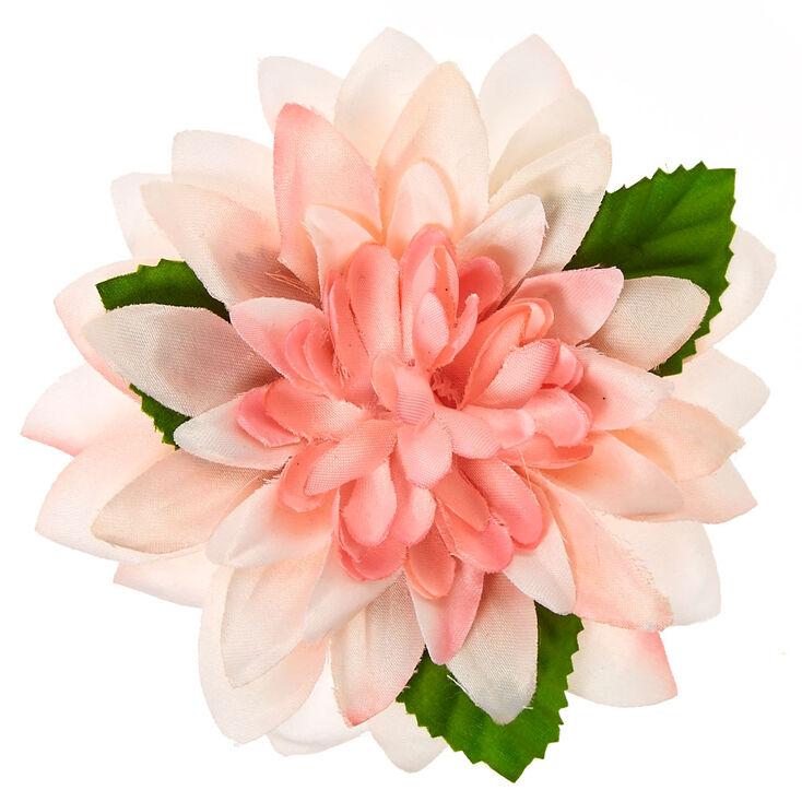 Light Pink Ombre Spiky Flower Hair Clip,